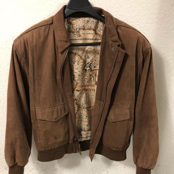 7d95cfd51 Vintage Distressed Leather Flight Jacket